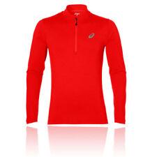 Abbiglimento sportivo da uomo maglie manica lunghi rossi