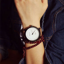 Fashion Men Women Watches Steel Case  Leather Quartz analog Wrist Watch Hot