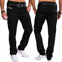 Herren Stoffhose glänzend Straight Leg Five-Pocket Hose elegant Coated Denim