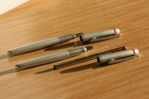 RARE Rotring Freeway silver matte roller and fountain pen New In Box