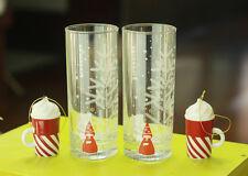 2015 Korea Starbucks Christmas Nutcracker Glass 2ea Candy Cane Whip Ornament 2ea