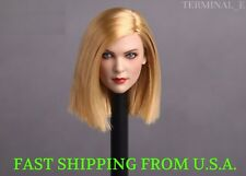 1/6 Female Head Sculpt D BLONDE HAIR For Hot Toys Phicen Female Figure ❶USA❶