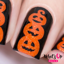 Pumpkin Topiary Stencils for Nails, Halloween Nail Stickers, Nail Vinyls