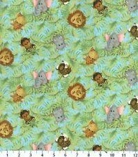 """Monkey Fabric ruffle 4 yards x 2"""" Jungle Babies Patty Reed Tiger cotton Toss"""