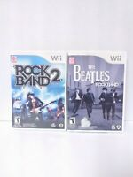 Rock Band 2 & The Beatles Rockband (Nintendo Wii) Complete Tested Fast Shipping