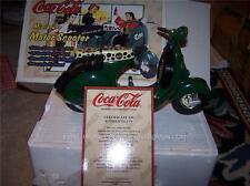 1996 Coca Cola PEDAL Bottle Coke DIE CAST SCOOTER BIKE NIB LTD 0062 - 10000 MADE