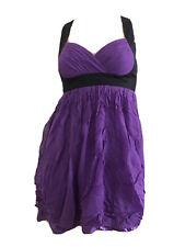 Mini Vestido Lipsy púrpura 100% seda chifón Bebé Muñeca Fiesta UK 8 EU 36 XS BNWT