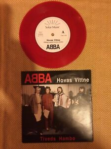 "ABBA HOVAS VITTNE.7"" Single.Red Vinyl."
