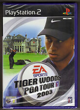 PS2 Tiger Woods PGA Tour 2003, UK Pal, Brand New & Sony Factory Sealed