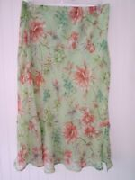 ALFRED DUNNER WOMEN'S SKIRT Size 14 MULTICOLOR FLORAL