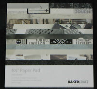 """Kaisercraft 'JUST LANDED' 6.5"""" Paper Pad Holiday/Vacation/Trip *NEW* KAISER"""