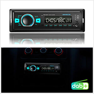 Single Din Car Stereo Head Unit DAB+/FM Receiver BT Hands-free Multimedia Player