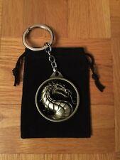 DZ1069 Game Mortal Kombat Metal key ring metal keyrings keychain ~bronze♫