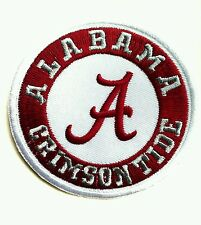 "Alabama Crimson Tide NCAA 3"" Embroidered Iron On Patch"