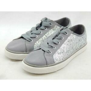 Clarks Brill Cora Big Kid Silver Synthetic Lace Up Shoe 2M