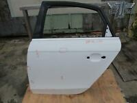 09-16 AUDI A4 B8 REAR LEFT DRIVER SIDE DOOR SHELL FRAME PANEL WHITE OEM