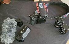 Panasonic Lumix GH3 with 14-42 lumix lens and Rode Video mic Go