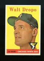 1958 Topps BB Card #338 Walt Dropo Chicago White Sox (a) NM-MT OR BETTER