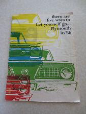 Original 1966 Plymouth Fury Barracuda VIP Valiant Belvedere advertising booklet
