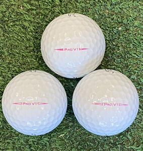 """24 AAA Titleist Pro V1 """"PINK PLAY"""" Golf Balls - FREE SHIPPING"""