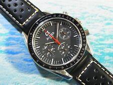 Alpha Speedmaster Stainless Steel Case Black Dial 3-Registered Chronograph Watch