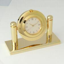 #00032 DESKTOP VIP CEO CLOCK GOLD PLATE BRASS JAPAN MOV'T GIFT BOX MADE IN KOREA