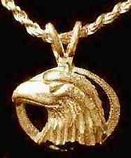 LOOK Military American Bald Eagle pendant charm Gold plated sterling silver .925