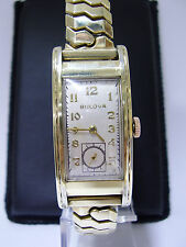 1939 45mm LONG BULOVA PRESIDENT 7AP 21JEWELS 10K GOLD FILLED ART DECO