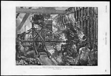 1891 antica stampa-Londra approvvigionamento di gas fabbricazione metodo impianto di distillazione (43)
