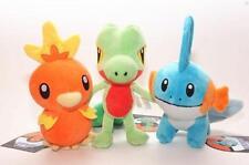 "3pcs/lot Pokemon 8"" Torchic Mudkip Treecko Toy Xmas Gift Soft Plush Doll"