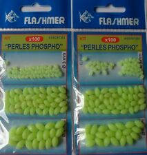 Flashmer lot de 200 perles phosphorescentes assorties 3x4mm 5x8mm 6x10mm