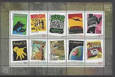 Australia 2006 Rock Posters Mini Sheet Stamps