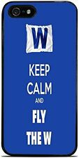 Cubs Keep Calm and Fly The W Chicago Cubs Silicone Case for iPhone 5 /