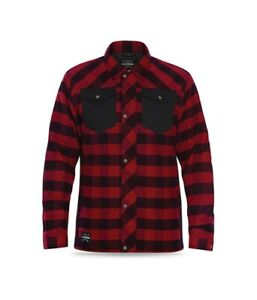 New Dakine Men's Richmond Insulated Flannel Jacket Large Red Check