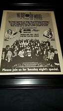 We Are The World Live Aid Band Aid Rare CBS TV Special Promo Poster Ad Framed!
