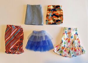 """Unboxed Mattel Creatable World skirts fit 9"""" 10"""" 11"""" doll"""