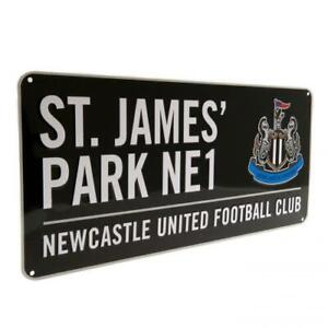 NEWCASTLE UNITED FC OFFICIAL COLOUR METAL STREET SIGN - FOOTBALL GIFT