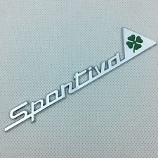 Metal Chrome Sportiva Quadrifoglio Trunk Emblem for Alfa Romeo Giulietta Giulia