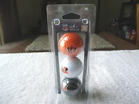 "N F L Golf Balls "" Cincinnati Bengals "" Set Of 3 "" NIP "" GREAT COLLECTIBLE SET"
