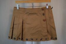 Libertine for Target Skirt 7 Junior New Pleated Khaki Punk Rock School Girl