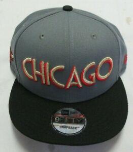 New Era 9Fifty NBA City Off 950 Chicago Bulls Snapback Men's Gray Cap Size OSFM