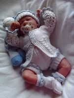 Honeydropdesigns * Lil Scallop * PAPER KNITTING PATTERN * Reborn/Baby (3 Sizes)