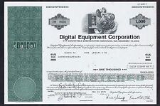 DIGITAL EQUIPMENT CORP ORIGINAL CERTIFICATE for 1000 SHARES in CLEAN CONDITION
