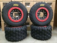 Hiper CF1 Beadlock Rims ITP Holeshot MXR6 Tires Front/Rear MX Kit 450R 250R 400X
