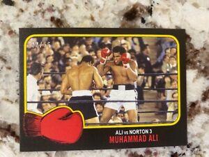 2021 TOPPS MUHAMMAD ALI PEOPLE'S CHAMP BLACK PARALLEL /56 CARD #62 vs NORTON 3