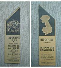 Marque page ancien Indochine 1953 soldats de boue-le temps des conquêtes