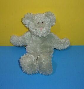 """12"""" Baby Boyd's Bear Gray Teddy Plush Rattle Soft Stuffed Lovie Cutie"""