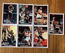 7 DIFFERENT, BLAZERS, BASKETBALL 94/95 PANINI STICKERS