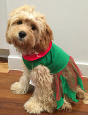 ELF GIRL CHRISTMAS CLOTHES COSTUME DRESS XSMALL TO XXX LARGE DOGS