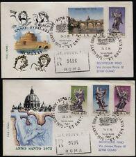 1975 - Anno Santo - nn.1284/1288 - Due Buste FDC